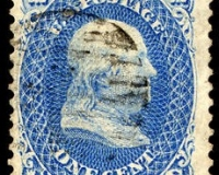 1 Cent Benjamin Franklin aus dem Jahr 1867