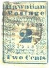2 Cents blue, Hawaii 1851