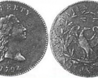 Silber-Dollar aus dem Jahr 1794