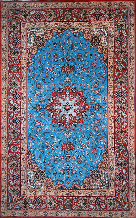 Persischer Isfahan Teppich aus Seide