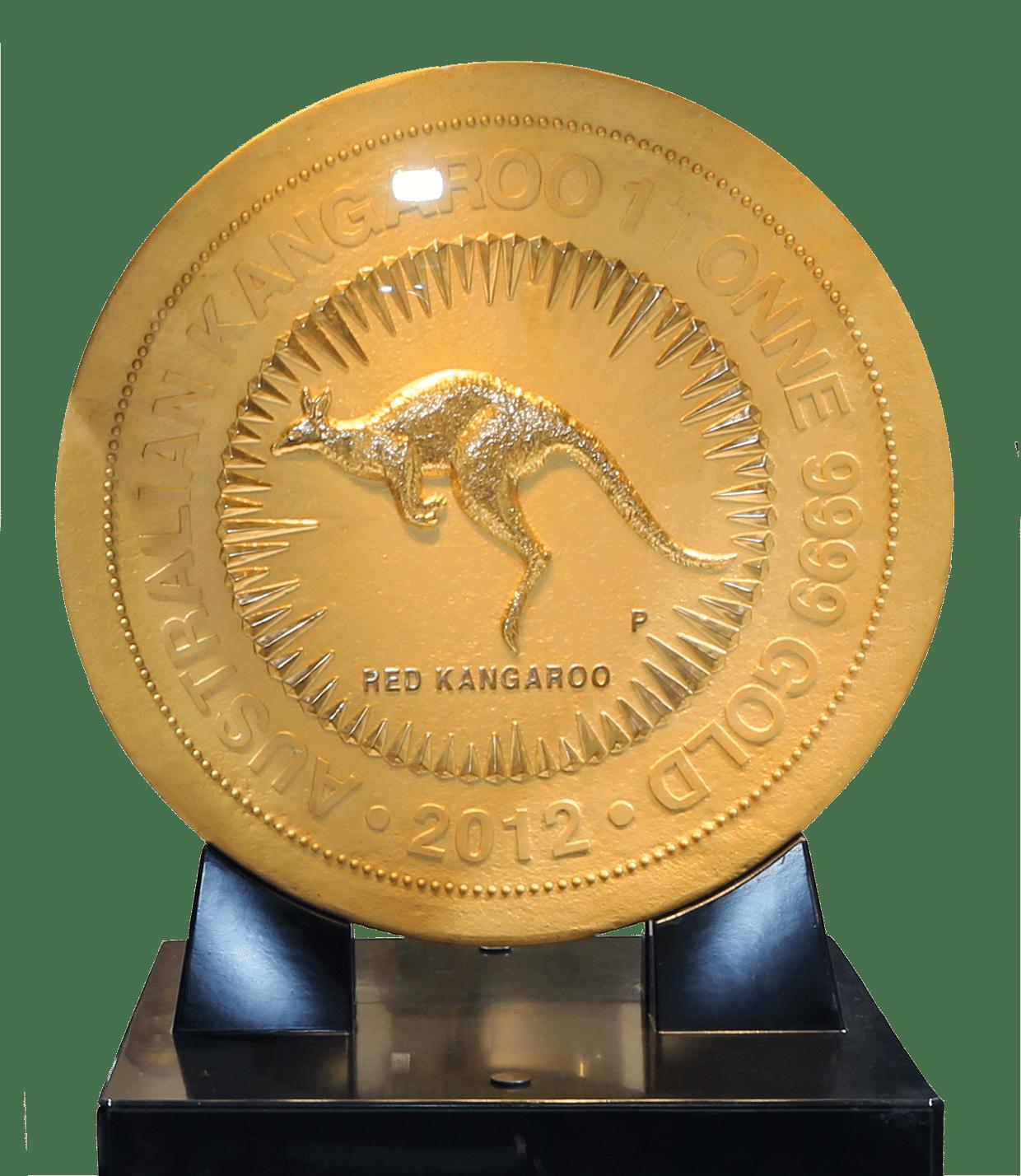 Teuerste Münze der Welt - nach seinem Goldwert gerechnet - 1 Tonne reines Gold - ca. 35.000.000 € (11.10.2017)