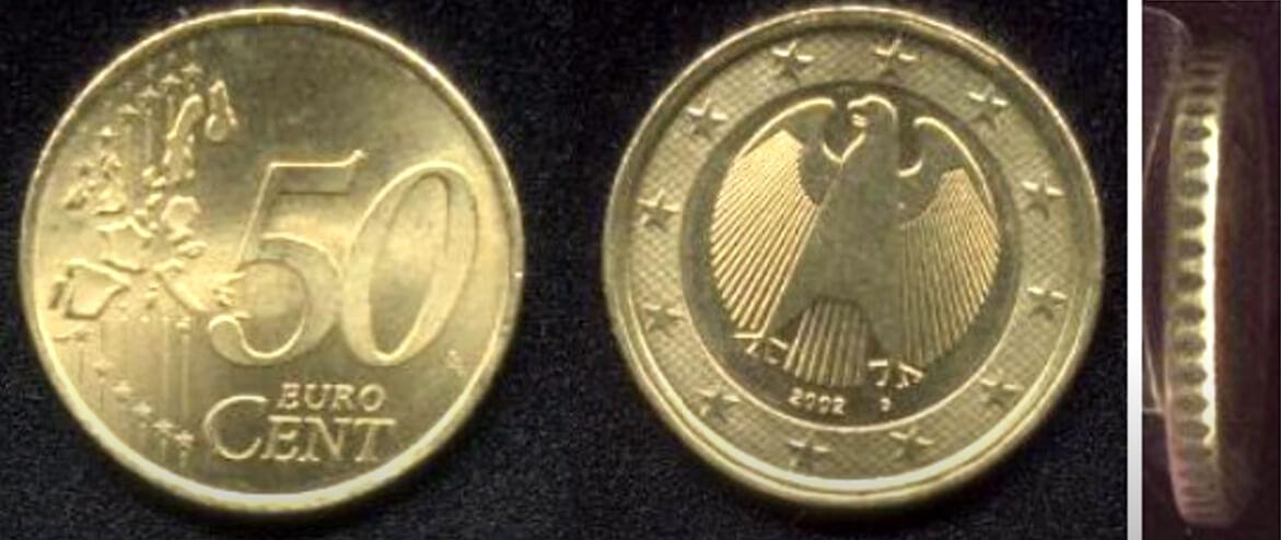 Wertvolle 50 Cent Münzen mit Fehlprägung Deutschland