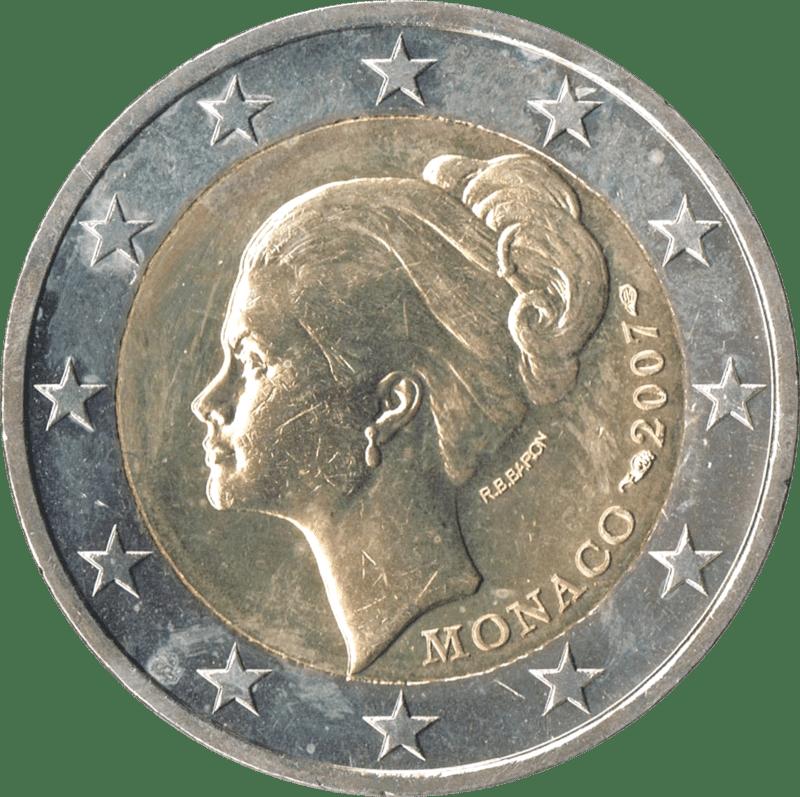 Zwei-Euro-Münze aus Monaco
