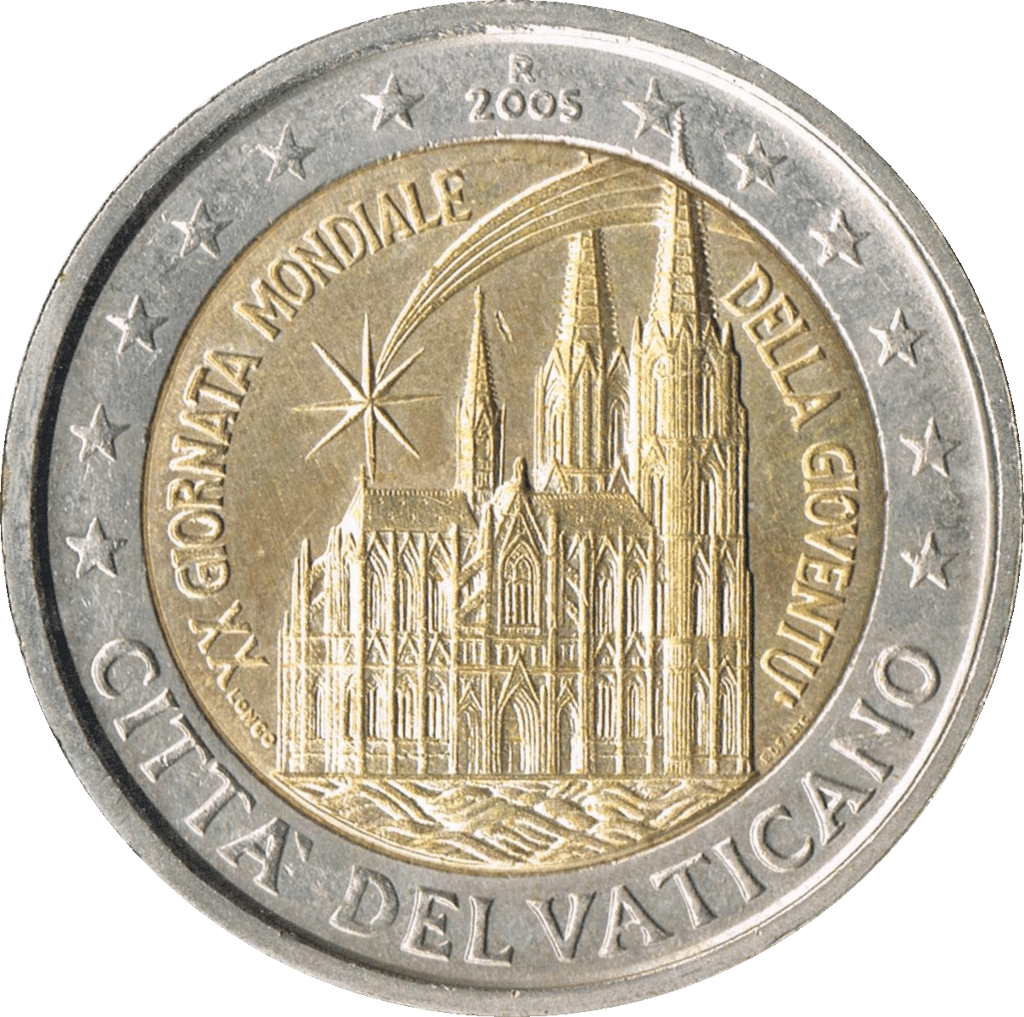 Zwei-Euro-Münze aus dem Vatikan Quelle: Wikipedia.org