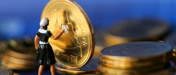 Münzen reinigen