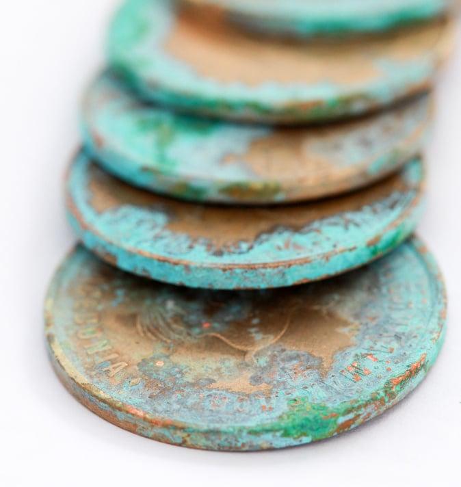 Patina beim Münzen reinigen bitte beibehalten