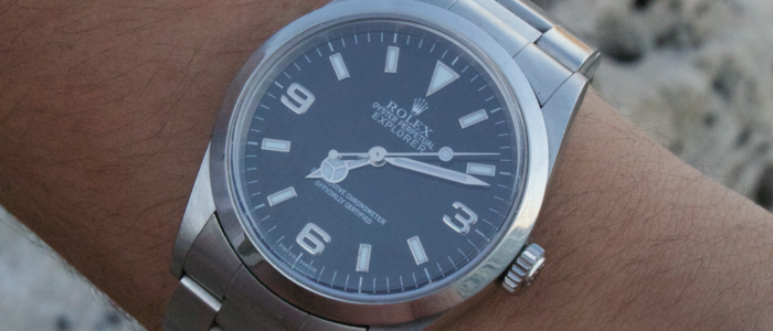 rolex explorer 1-am arm