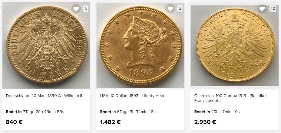 wertvolle goldmünzen verkaufen